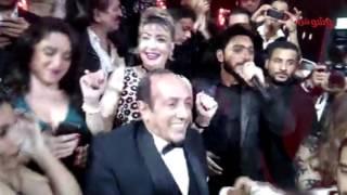 بالفيديو والصورة.. تامر حسنى يشعل حفل زفاف بسنت أحمد صيام