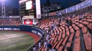 横浜ベイスターズ対中日ドラゴンズ 横浜スタジアム 観客数:6345人.