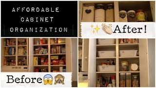 Let's Organize The Cabinets! Affordable Organization!