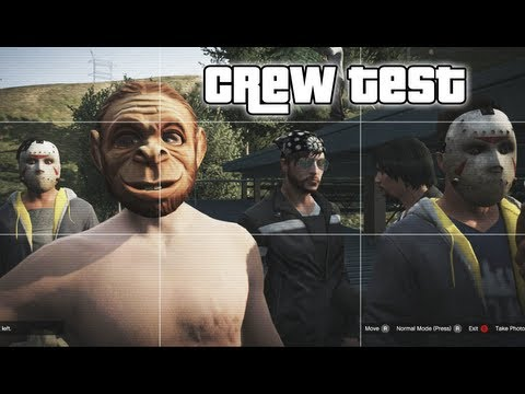 GTA 5 ONLINE - CREW TEST - (GTA V ONLINE FUNNY MOMENTS #1)