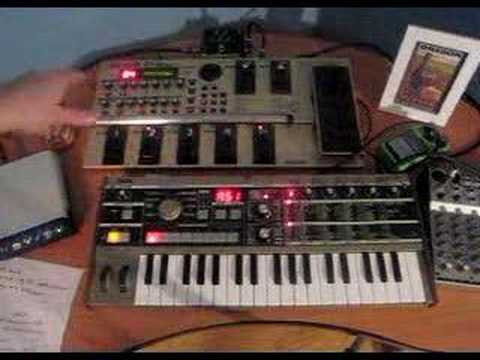 Wav File Music - Moog sound with Micro Korg and GT-6