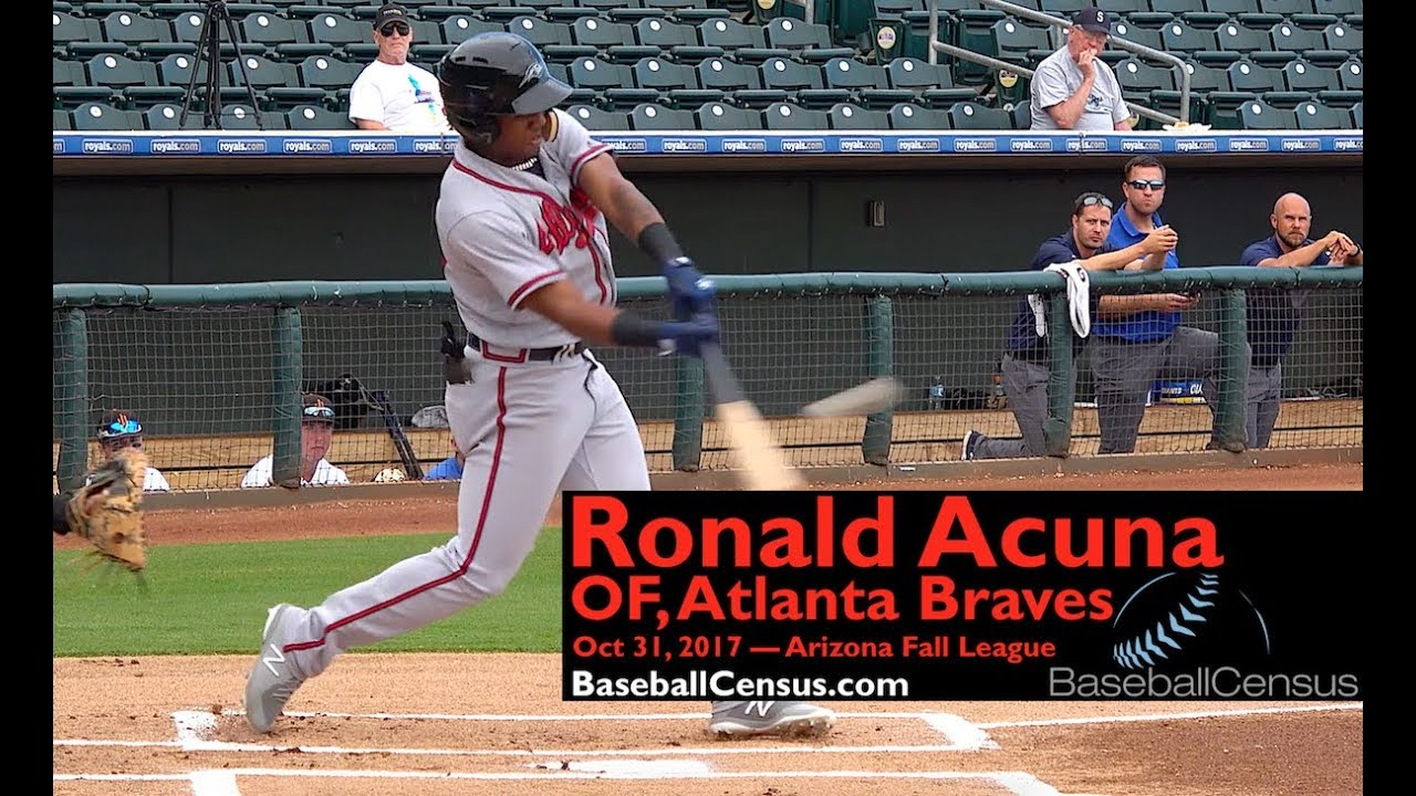 Ronald Acuna Of Atlanta Braves October 31 2017 Afl Youtube