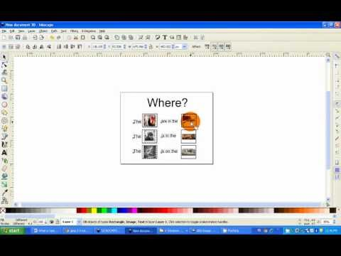 NWACS:  How To Make A Basic Communication Board Using Inkscape