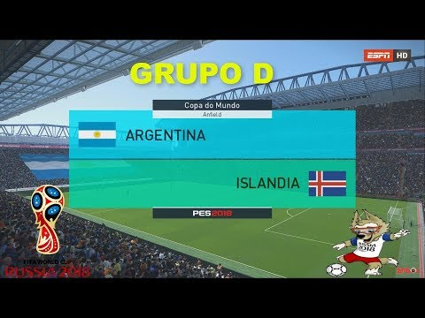 ARGENTINA VS ICELAND | PES 2018 | GRUPO D # 1  FIFA World Cup | OPTION FILE broadcast camera