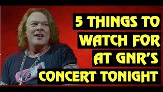 Guns N' Roses Hollywood Palladium Concert 09/21/2019: 5 Things To Watch For