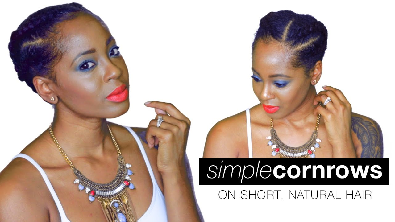 Cornrows On Short Natural Hair Summer Style Askproy Youtube