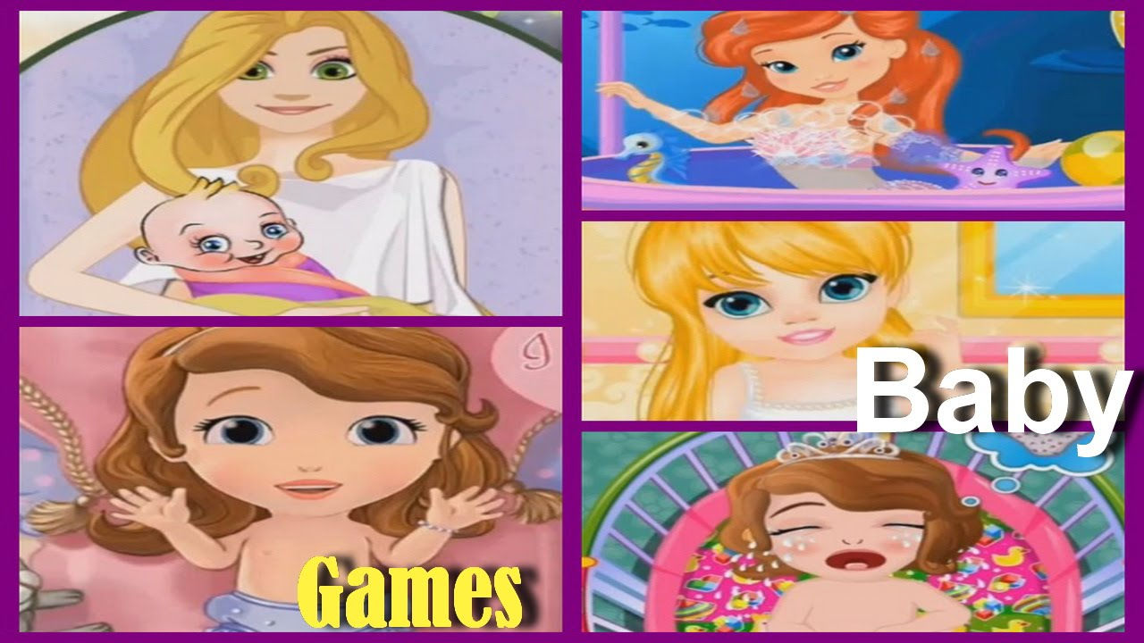 Play learn baby care and bath with baby princess ariel - Princesse sofia et ariel ...