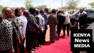 President Uhuru Kenyatta ARRIVAL at the Peter Musyoka Mairu funeral service BURIAL!!!