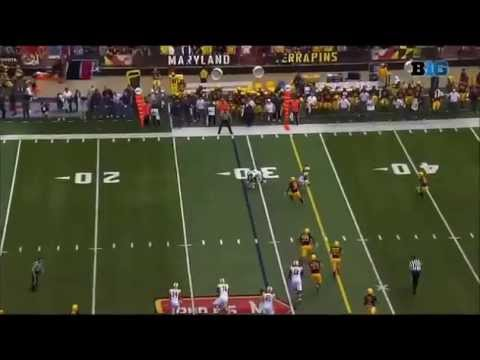 K.J. Dillon - West Virginia Football - Safety - 2014 Maryland Game
