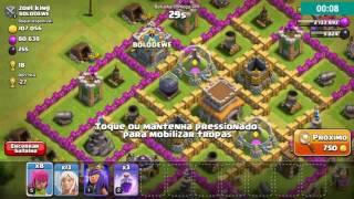 Poder da rainha arqueira nível 1 vs CV 8 Clash of clans