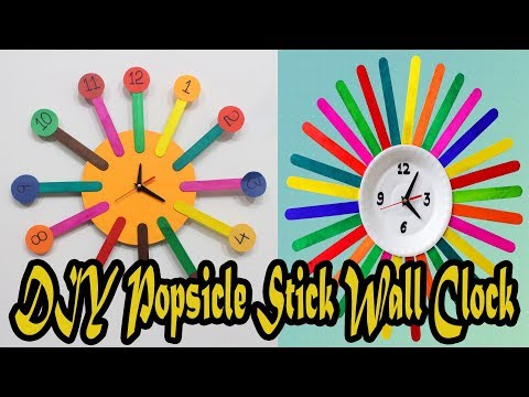 DIY Popsicle Sticks Clock compilation by 3 Minute Crafts |How to Make wall clock for kids room decor