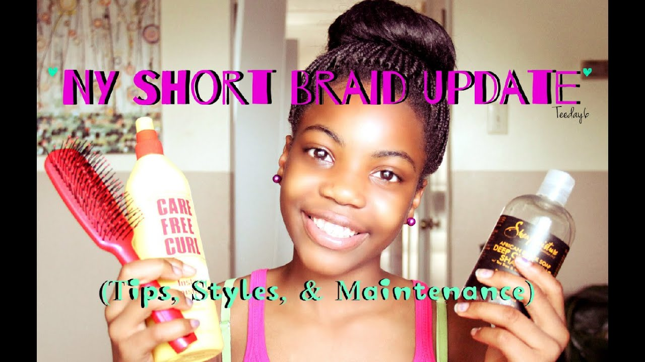 Crochet/Box Braid UPDATE! (NY SHORT BRAID) TEEDAY6 - YouTube
