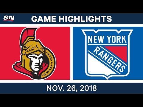 NHL Highlights | Senators vs. Rangers - Nov 26, 2018