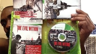 "Unboxing THE EVIL WITHIN ""Fighting Chance Edition"" For Xbox 360 BETHESDA New Release Tuesdays"