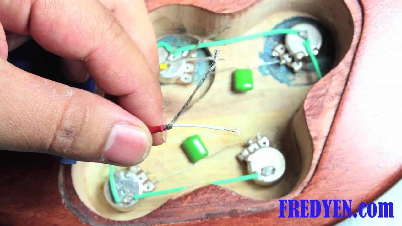 DIY Les Paul Guitar Kit  Part 6     Wiring    the Pickups   YouTube