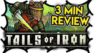 3 MIN REVIEW - Tails of Iron (Video Game Video Review)