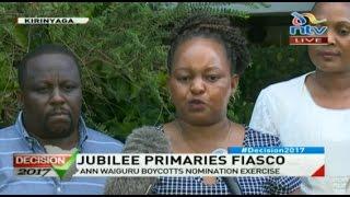 Anne Waiguru boycotts Jubilee primaries, demands fresh vote