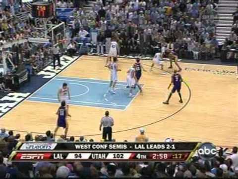 Derek Fisher Makes Three Clutch 3's In A Row (2008 Playoffs)