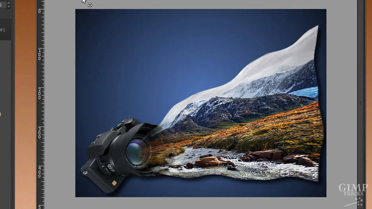 let a photo flow into the camera gimp tutorial youtube