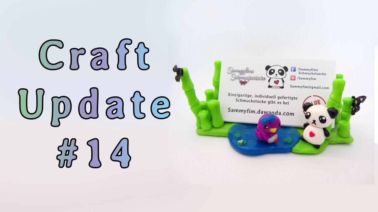 Craft Update 14 Fimo Schmuck Notizhalter Visitenkartenhalter Und Eine Papier Kommode