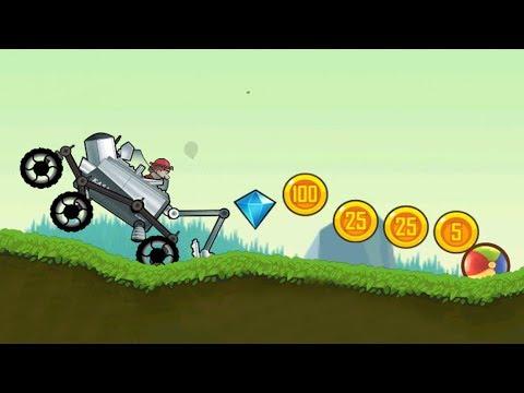 Hill Climb Racing - Gameplay Walkthrough Part 4 - Moonlander (ios, Android)