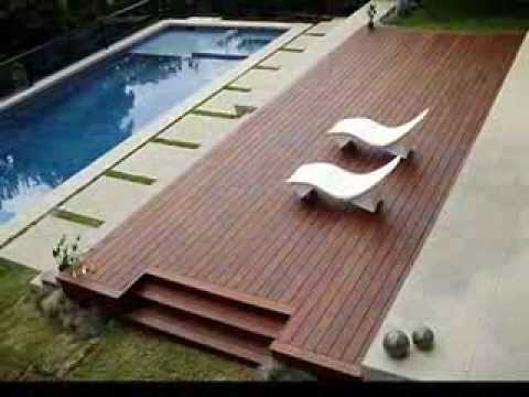 Innova pisos de madera nuestros decks en madera para spa for Madera para piscinas