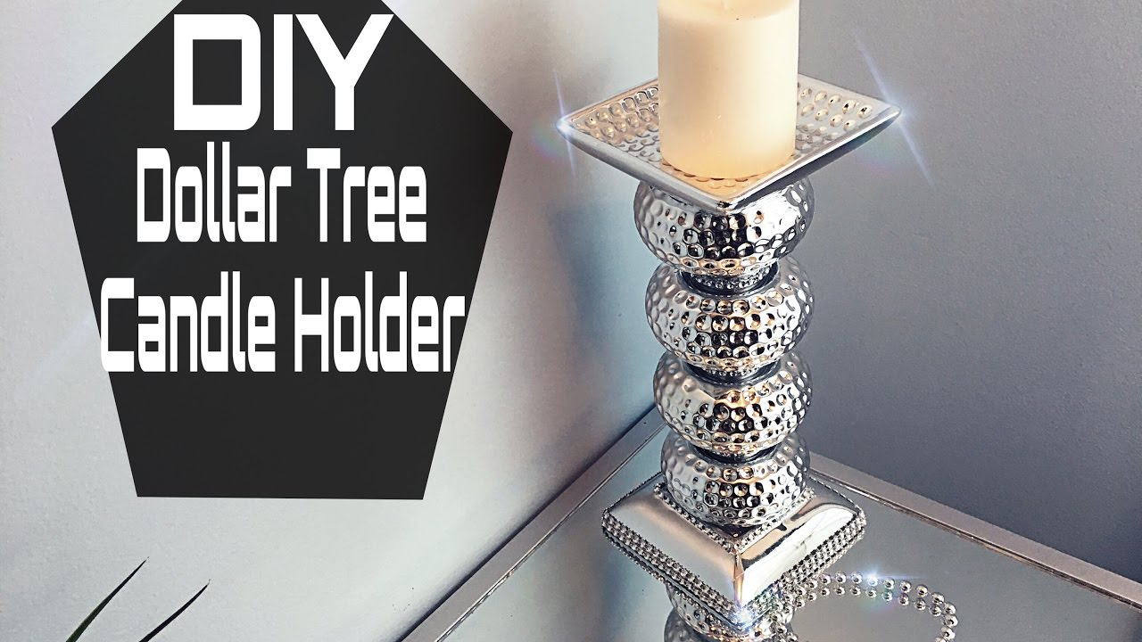 DIY | Dollar Tree Mirrored Candle Holder - YouTube