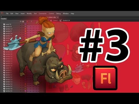 Анимация png персонажа (девушка на кабане) во Flash №3
