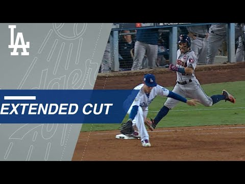 Extended Cut: Cody Bellinger scoops low throw to end threat in the 7th of Game 6 of the World Series