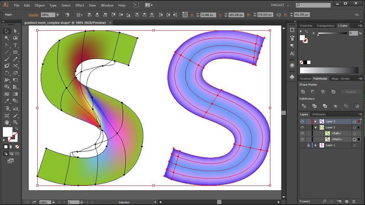 Gradient Mesh Tool Create a Realistic Rose in Illustrator CC  SPEEDART