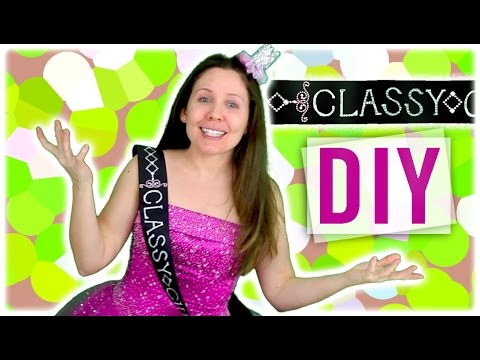 DIY: How to Make a Beauty Queen Sash for Pageants / Prom