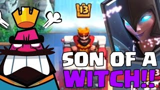 SON OF A WITCH RAGE MODE | Clash Royale | Can we get to 5000 Trophies?!