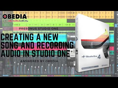 PreSonus—Studio One 4: Creating a New Song and Audio Recording