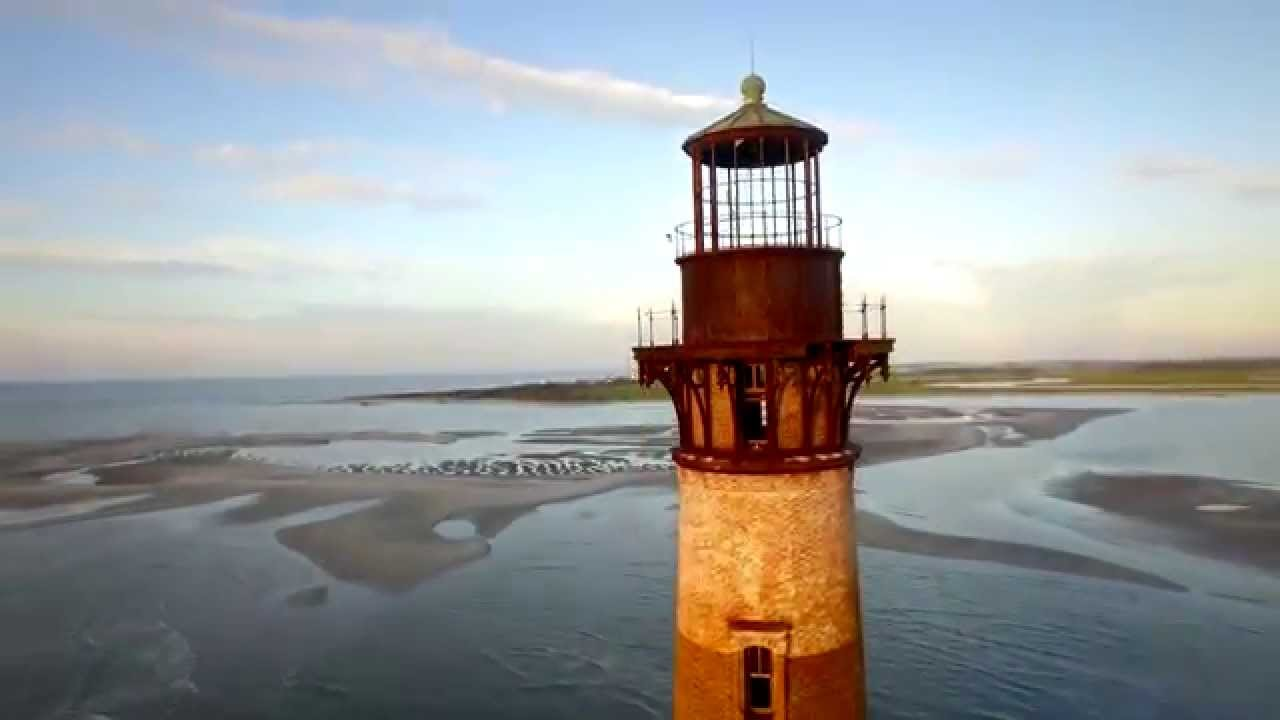 Morris Island Lighthouse Folly Beach Sc Hd