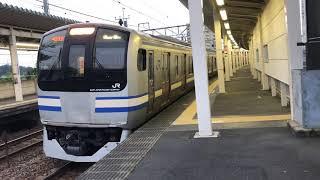 E217系クラY-1編成+クラY-129編成大網発車