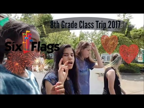 8th Grade Class Trip 2017 - Great America (Sixflags) - Vlog