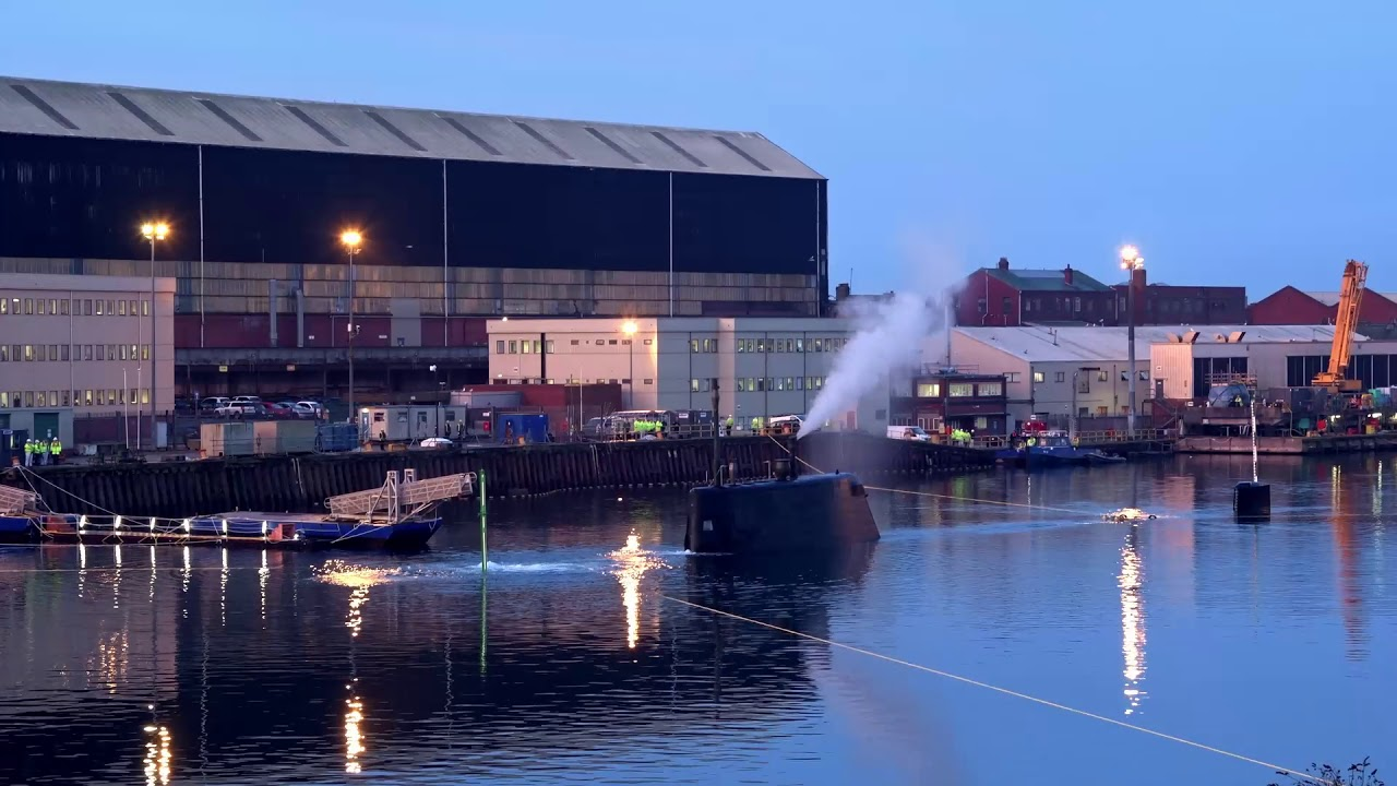 Fourth astute class submarine completes first dive at BAE Systems  Barrow-in-Furness