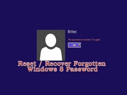 How do i change my computer password on windows 8