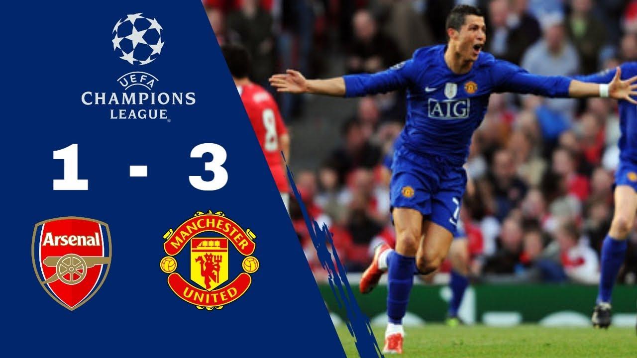 Download Résumé ARSENAL 1 - 3 MANCHESTER UTD | Demi Finale Retour | Ligue Des Champions 08/09 [HD] [CANAL+]