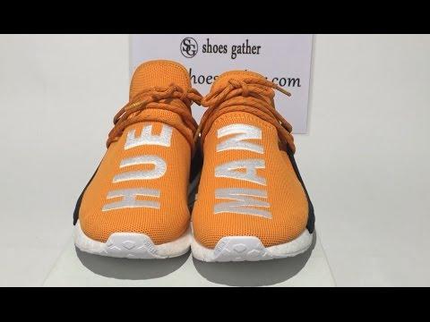 6859e8232c55 UA Adidas PW Human Race NMD Pharrell Orange Sneaker Unboxing Review. Shoes  Gather