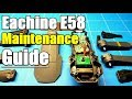 Eachine E58 Wifi FPV Drone Maintenance Guide With Full Disassembly of DJI Mavic Pro Clone