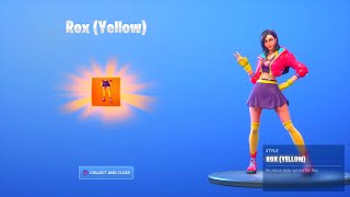 "FORTNITE SEASON 9 ROX ""YELLOW"" STYLE UNLOCKED! FORTNITE SEASON 9 ROX MAX STYLES UNLOCKED"