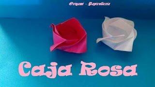 Origami - Papiroflexia. Caja Rosa, Rose Box