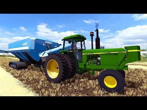 FARMING SIMULATOR 2017 | THE JOHN DEERE 4840 & KINZE CANT KEEP UP WITH HARVEST | IOWA EP #14