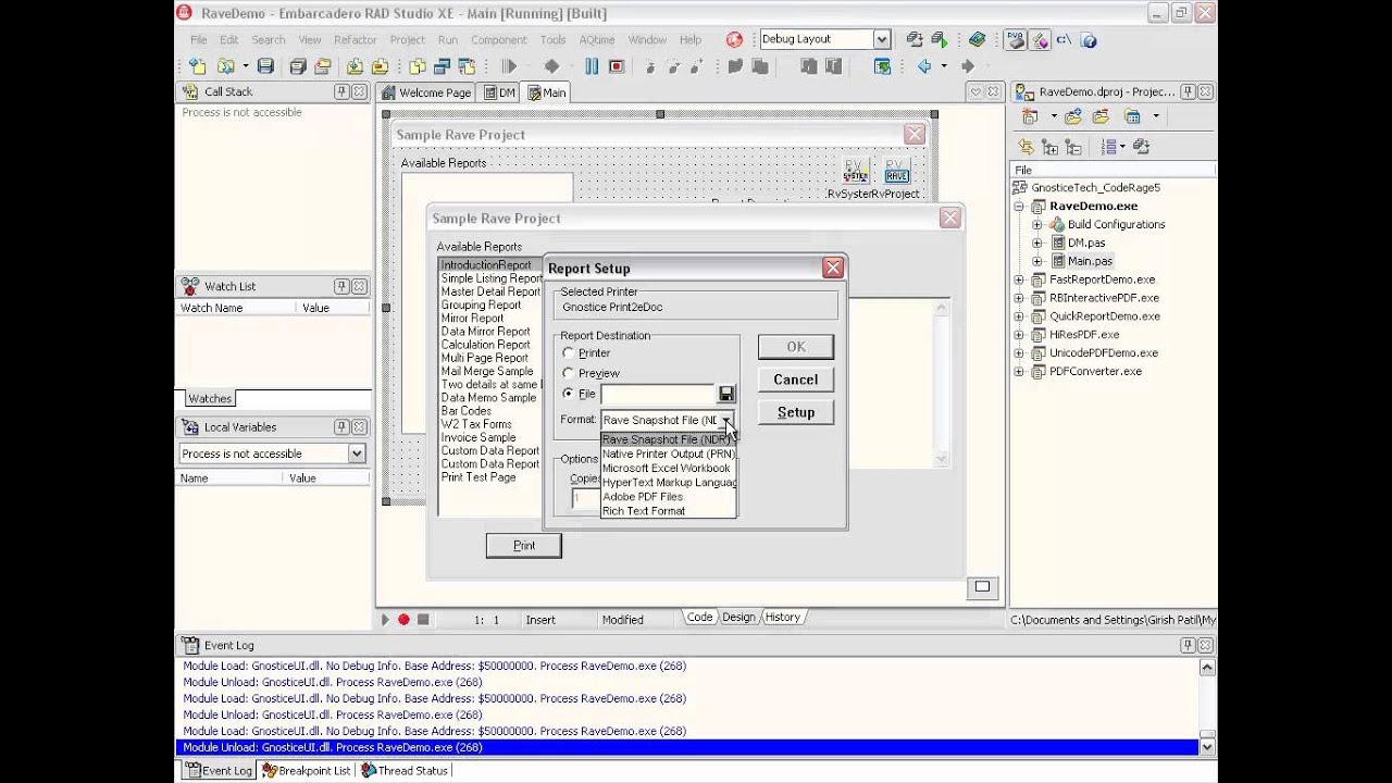 Gnostice eDocEngine VCL - Delphi & C++Builder components for 20 file