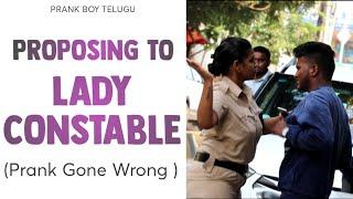 Next Level Prank Proposing To Lady Constable || Telugu Pranks || Prankboy Telugu