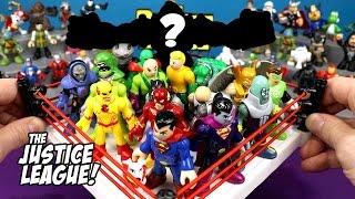 Justice League Toys 20 Man Battle Royal with DC Imaginext Batman Toys // RUMBLE LEAGUE
