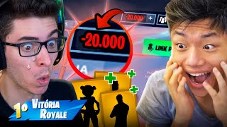 INVADI A CONTA DO FLAKES E GASTEI OS V-BUCKS DELE!! FORTNITE: BATTLE ROYALE thumbnail