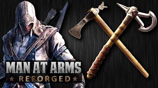 Repeat youtube video Tomahawk Challenge (Revolutionary War vs. Assassin's Creed 3) - MAN AT ARMS: REFORGED