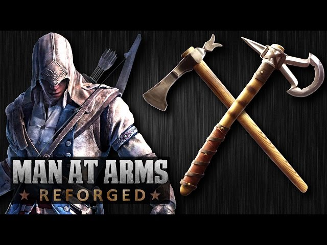 Blacksmith Crafts Tomahawk From Assassin S Creed Pits It Against